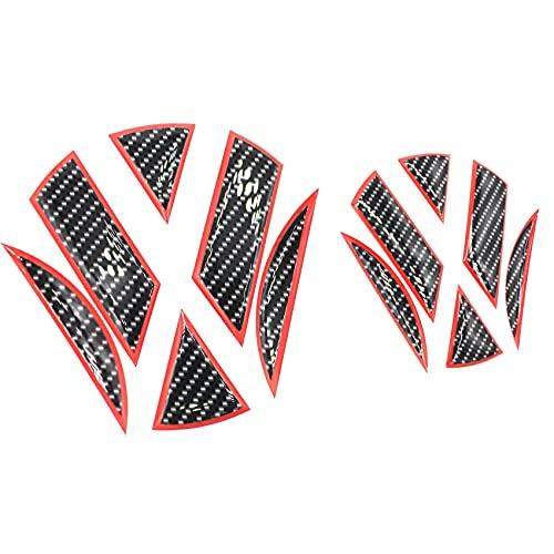Finest-Folia 3D Emblem Gel Aufkleber vorne + hinten DM001 DM002 (Carbon Schwarz Rot)