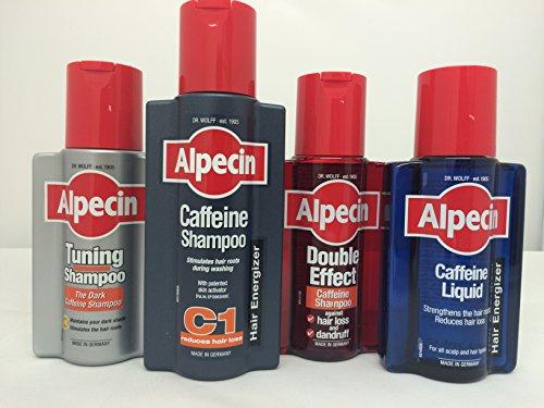 Alpecin por Dr lobo juego completo (Alpecin cafeína Champú 250ml, Alpecin Doble Efecto Champú 200ml, Tuning Champú 200ml y Alpecin cafeína líquido 200ml)