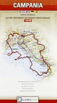 Campania Italy - Road Map - 1 250,000  English Spanish French Italian and German Edition