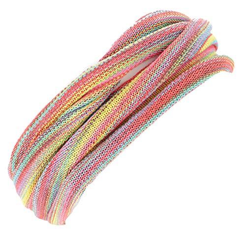 Guru-Shop Doppel Haarband, Magic Hairband, Dread Wrap, Schlauchschal, Stirnband, Herren/Damen, Rosa/bunt, Baumwolle, Size:One Size, Stirnbänder Alternative Bekleidung