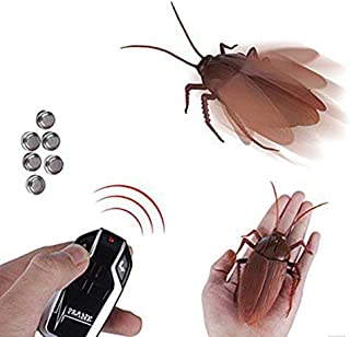Infrared Remote Control Cockroach Toy Novelty Fake Giant Roaches Look Real Prank Toys Insects Joke Trick Bugs for Kids Pet Toy