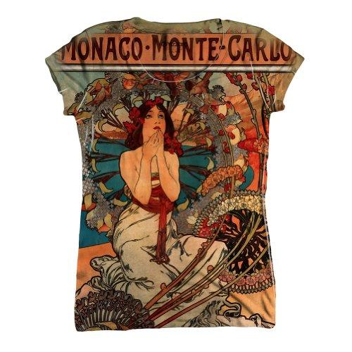 Yizzam- Alphonse Mucha - Monaco Monte Carlo (1897) -Tshirt- Womens Shirt-Large