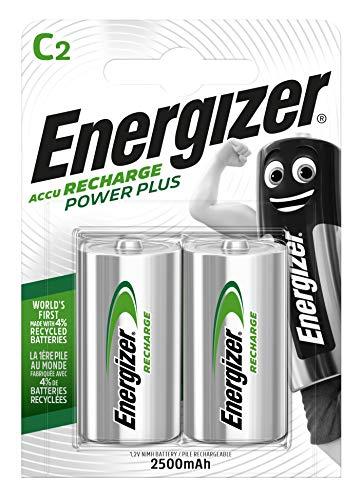Energizer Wiederaufladbare Batterien C, Recharge Power Plus, 2 Stück