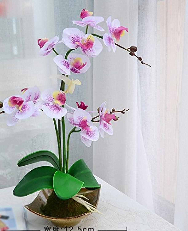 LQAQ Phalaenopsis artificiales Kit encapsulados decoraciones hogareas