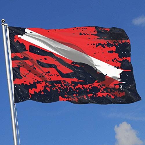 BHGYT Custom Outdoor/Indoor Dekorative Flagge Tauchen Rote Flagge 100% Polyester Single Layer Flags 3 X 5