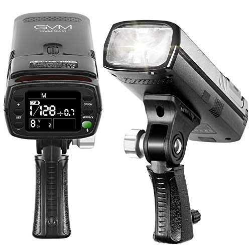 GVM Flash Strobe,TTL Flash Speedlight with LCD Display for Canon Nikon Sony Fujifilm and Other DSLR Cameras,200W Photoflash with Standard Hot Shoe and High-Speed Synchronized 2.4G Flash Trigger