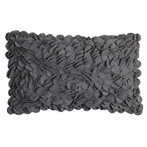 Linen & More Dekokissen, Baumwolle, Dunkelgrau, 30 x 50 cm