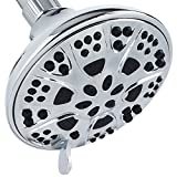 AquaDance High Pressure 6-Setting, Large 5-Inch Shower Head with Full Chrome Finish, Tested to Meet US Quality...
