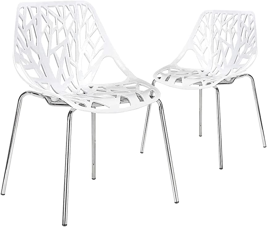 5% OFF CangLong Modern Mid Century Hollow Nippon regular agency Dining-Chairs Plastic Shell