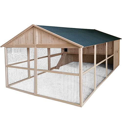 Gallinero XL con pajarero Charlie – 10 gallinas – 8,5 m2