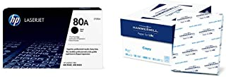 $138 » HP 80A   CF280A   Toner Cartridge   Black & Hammermill Paper, Copy Paper, 8.5 x 11 Paper, Letter Size, 20lb Paper, 92 Bright, 8 Ream Case / 4,000 Sheets (113640C) Acid Free Paper