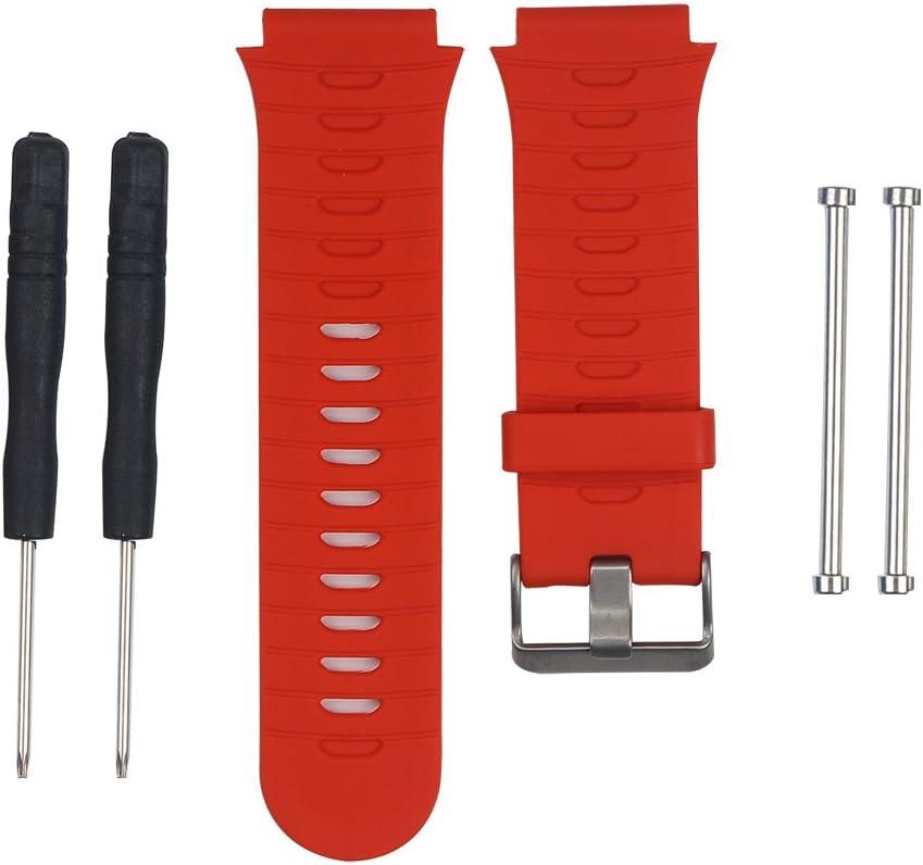 Correa deportiva de reloj, ajustable, de silicona, con herramientas de montaje, recambio para Garmin Forerunner 920 XT por KEESIN