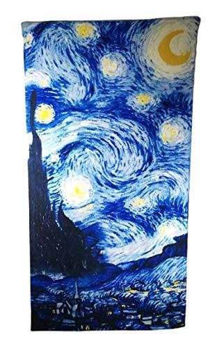 Goodforgoods Toalla Grande para la Playa y Piscina 170x90 cm, con diseño de Palmeras, Unicornios, Tabla de Surf. Secado rápido, Ligera, fácil de Llevar y Guardar. (Azul)