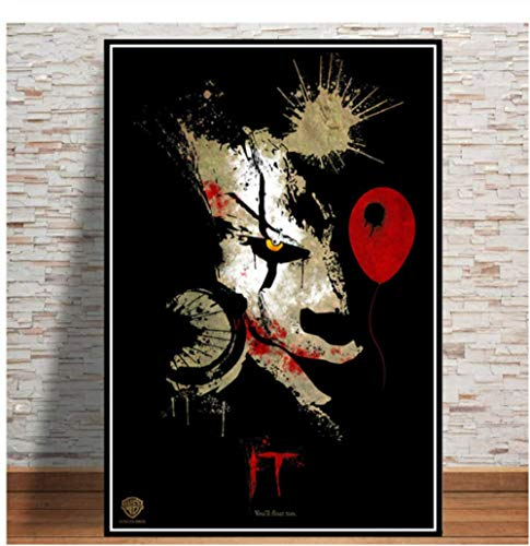 H/A Stephen King Penives Thriller, Digital Painting, Simple And Stylish Diy Canvas Poster, Home/Kids Room/Bar Decoration Art 40X60Cm Y7182