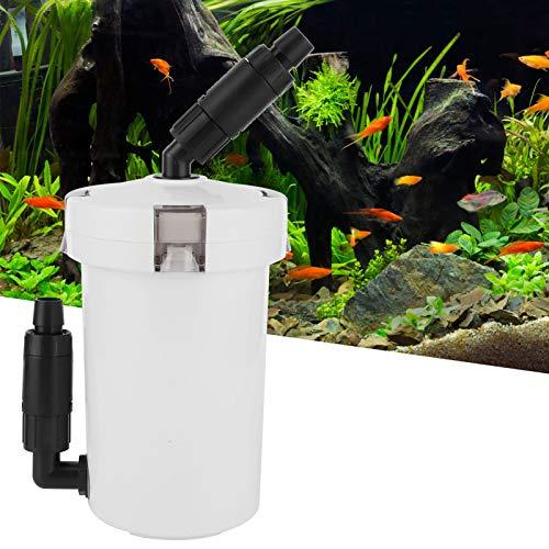 Kuuleyn Filtre Externe Aquarium, HW-602 Filtre à Cartouche Externe Multiples filtrations pour Aquarium avec Table à Pompe Seau de filtres muets