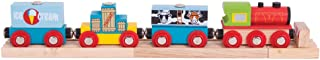 Bigjigs Rail Wooden Freight Train - Other Major Rail Brands are Compatible