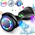 """TOMOLOO Hoverboard with Speaker and Colorful LED Lights Self-Balancing Scooter UL2272 Certified 6.5"""" Wheel for Adults and Child…"""