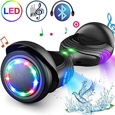 "TOMOLOO Hoverboard with Speaker and Colorful LED Lights Self-Balancing Scooter UL2272 Certified 6.5"" Wheel for Adults and Child…"