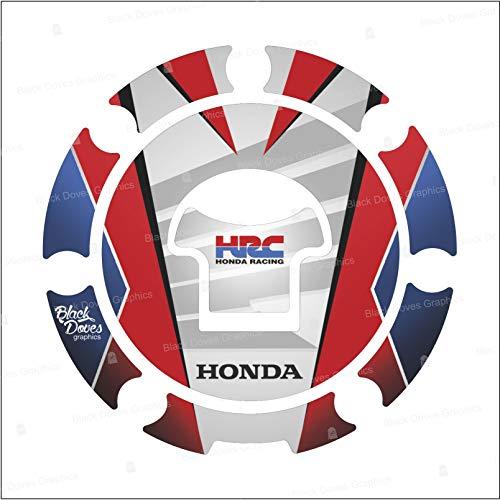 Schutz Aufkleber mit Harz beschichtet kompatibel für Tankdeckel Motorrad Honda with 7 Bolt Fuel Cap CBR 250R 600 F2 F3 F4 F4i 600RR F5 1000RR VFR RVF VTR ST1300