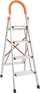 LUISLADDERS 4 Step Ladder Folding Step Stool Aluminum Lightweight Stepladders Multi Purpose Portable Folding Home Ladder 330lbs EN131