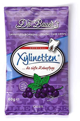 Dr. Bauer´s Xylinetten Xylitol Zahnpflege-Bonbons 60g Beutel Cassis