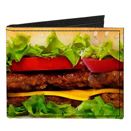 Canvas Bi-Fold Wallet - Vivid Cheeseburger
