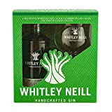 Whitley Neill Aloe and Cucumber Gin 43% ABV Gift Pack with Glass