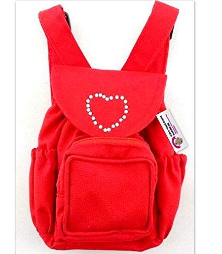 Baue Dein Bears Kleiderschrank 15Zoll Kleider passen Bj Bär Rucksack (rot)