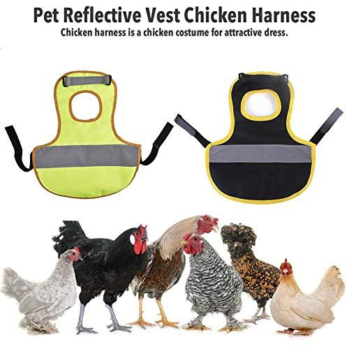 wangza Warnweste für Hühner Sicherheits Weste Haustier Reflektierende Weste Hühnerkleidung Geflügel Henne Sattelschürze Feder Schutzhalter für Huhn Und Ente