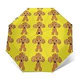 かわいいトイプードル傘 折りたたみ傘 自動開閉 大きい 男女兼用 頑丈な8本骨 軽量 耐強風 超撥水 日傘 晴雨傘 梅雨対策 晴雨兼用 通学 旅行