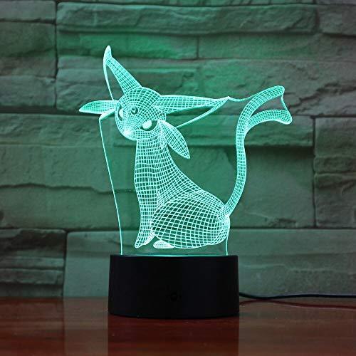 Pokemon Go Espeon Figure Festival Espeon 3D LED Night Light USB Table Lamp Kids birthday Gift Bedside home decoration