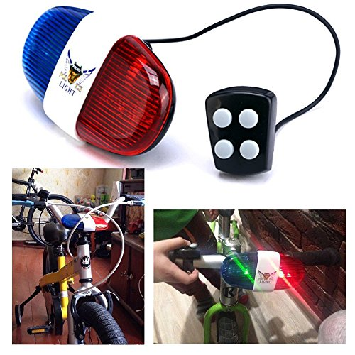 Itian Bike LED Light Cycling Bike Electric Horn 4 Sounds 6 LED Cycling Police Siren Electric Lights Bike Equipment Accessories