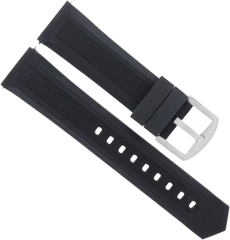 21mm Black Rubber Band Compatible Portland Mall Aquaracer Calib Heuer discount Tag with