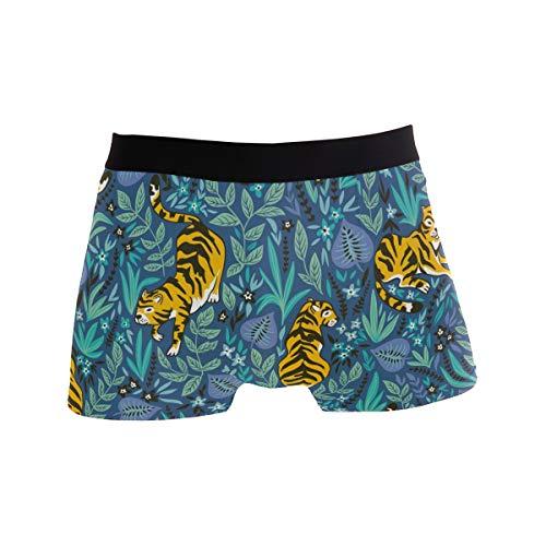 Alarge Herren-Boxershorts, lustiges Tiger-Muster, kurze Unterwäsche, weiche Stretch-Unterhose für Männer, Jungen, S-XL Gr. L, multi