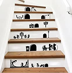 d co maison stickers contremarche escalier. Black Bedroom Furniture Sets. Home Design Ideas
