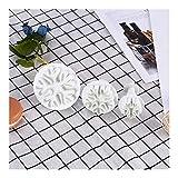 JYSLI Fácil Herramientas del Molde 3pcs Galletas Galletas Cortadores de plástico Torta de la Pasta de azúcar Que adorna la hornada Accesorios del Copo de Nieve Shaped energía (Color : 1 Set)
