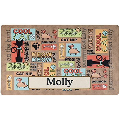 Drymate Custom Personalized Cat Place Mat