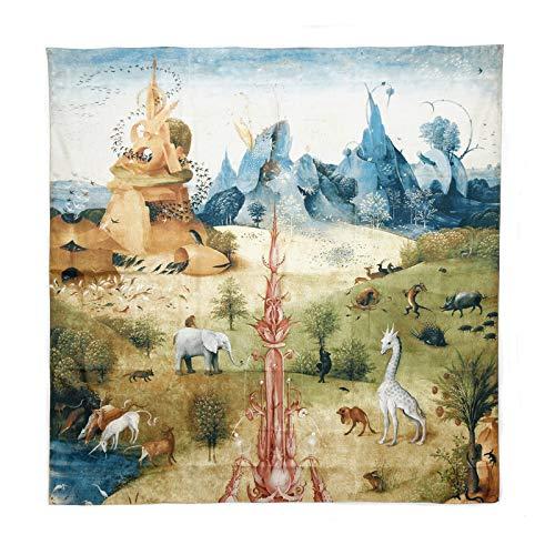 Pañuelo de seda 120 x 120 cm 'El jardín de las delicias'