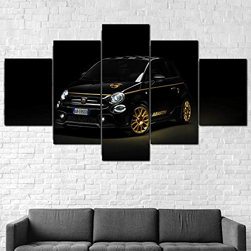 JUHAO Pintura Impresa en Lienzo de 5 Piezas, decoración Moderna de la Pared del Dormitorio de la Sala de Estar XXL-Póster Super Car Canvas-con Marco, fácil de Colgar