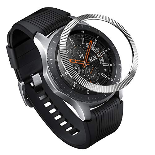 Ringke Bezel Styling for Galaxy Watch 46mm / Galaxy Gear S3 Frontier & Classic Bezel Ring Adhesive Cover Anti Scratch Stainless Steel Protection [Stainless] for Galaxy Watch Accessory GW-46-12