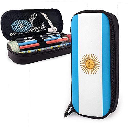 Estudiantes argentinos de gran capacidad Funda de lápiz de cuero Bolígrafo Papelería