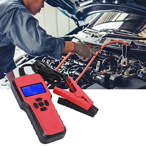 Yisenda Probador de batería de automóvil, Que Incluye 4 Opciones de función Adopta una Pantalla LCD de 2.4 Pulgadas con retroiluminación, analizador de batería de automóvil, Prueba de múltiples