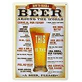 Newin Star Duradera de la hojalata del cartel creativo Cerveza Modelo de la placa del estilo Café Bar placa de la pared retro decoración del hog
