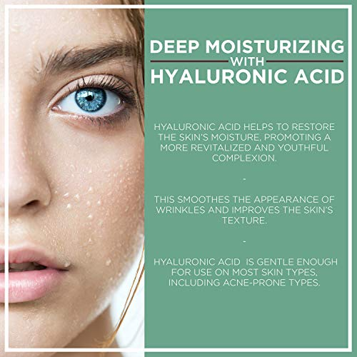 NuOrganic Age Defying Eye Lifting Serum with Hyaluronic Acid   Plant Based Stem Cells   Active Peptides   Protects & Revives Under Eye Area & Gives it a Youthful Look ● 30ML