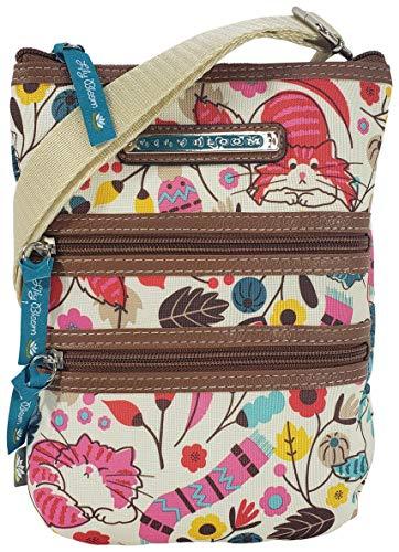 Lily Bloom Multi Section Eva Mini Crossbody Bag (Love Cats)