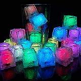 12 Pcs Cubito de Hielo Luces LED Submarinas Intermitentes Luz del Sensor de Líquido LED Colorido y Reutilizable Decorativo para Fiesta, Boda, Club y Bar [Clase de eficiencia energética A]