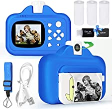 Instant Print Camera for Kids, WiFi Zero Ink Toy 4K Camera with Paper Films, 32GB Memory Card Portable Digital Selfie Camera WiFi Transmission Print Toys Gifts for 3-12 Years Old Children Boys Girls