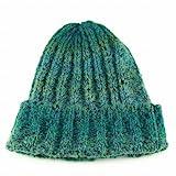ニット帽 ニットキャップ ニットワッチ ワッチ イタリアンニット イタリア製糸 リブ編み リブ 伸縮 秋冬 フリーサイズ グリーン