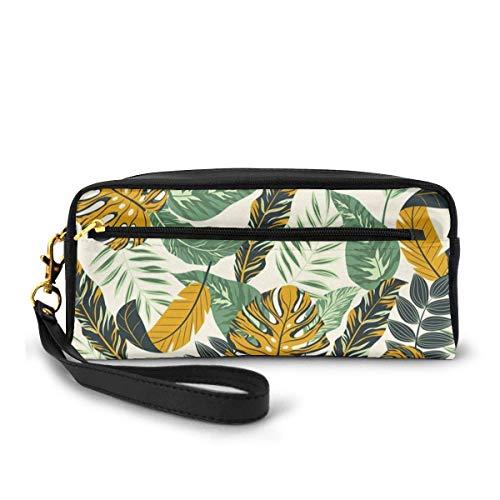 Yuanmeiju Tropical Large Capacity Canvas Mäppchen Pen Bag Pouch Stationary Case Makeup Cosmetic Bag