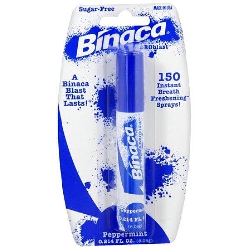 Binaca Aeroblast 150 Breath Spray, Peppermint 0.21 oz (3 PACK)